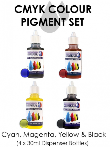 Monocure CMYK Farbpigmente Set